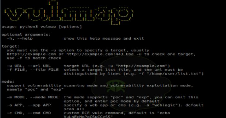Vulmap : Web Vulnerability Scanning & Verification Tools