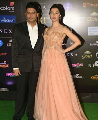 bhushan kumar with his wifey Divya Kumar