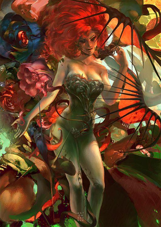 Anton Oxenuk artstation deviantart arte ilustrações fantasia mulheres surreais