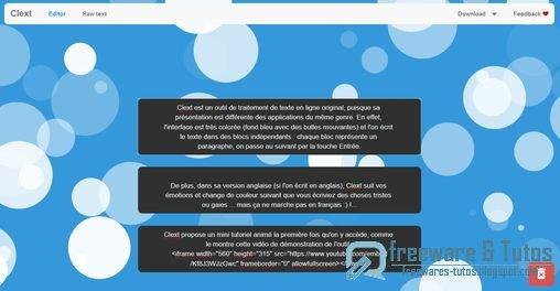 Clext : un outil de traitement de texte en ligne original