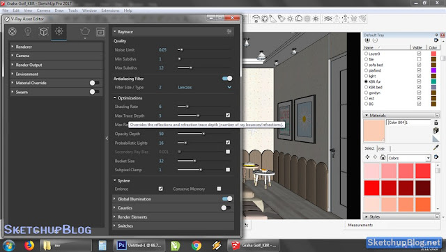 Tutorial Setting Raytrace Vray 3 Sketchup