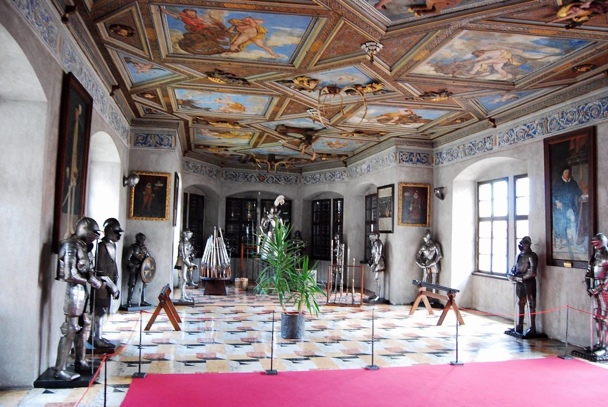 salle des chevaliers chateau de Telc