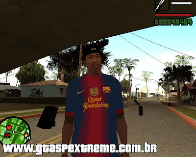 Camisa do Barcelona 2012/2013 para grand theft auto