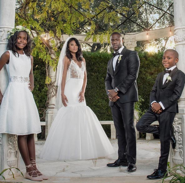 Photos from Kevin Hart and Eniko Parrish's white wedding