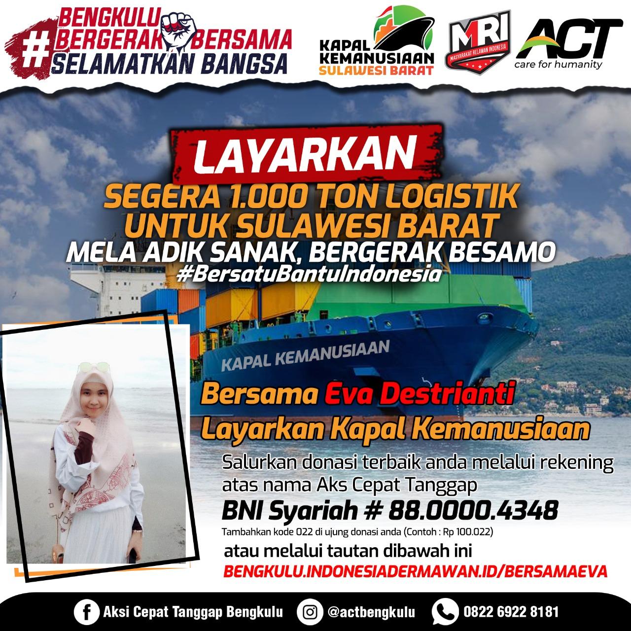 ACT-MRI Bengkulu: Kapal Kemanusiaan Siap Berlayar Menuju Sulawesi Barat