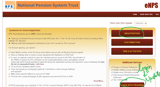 NPS, National Pension Scheme