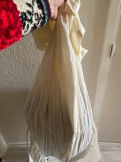 waszak naaien met de hand uit dekbedhoes