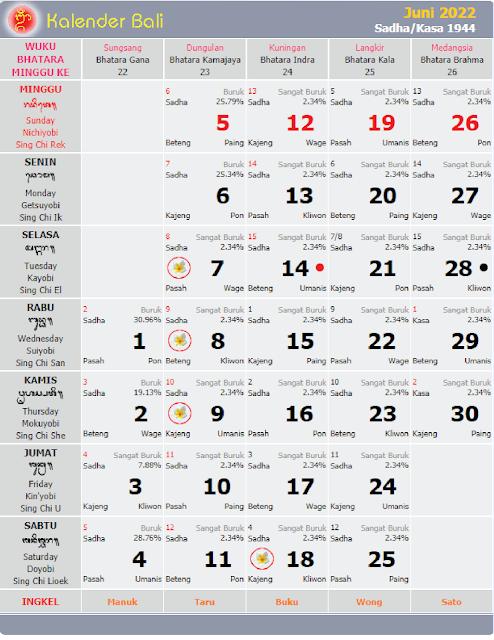 kalender bali juni 2022 - kanalmu