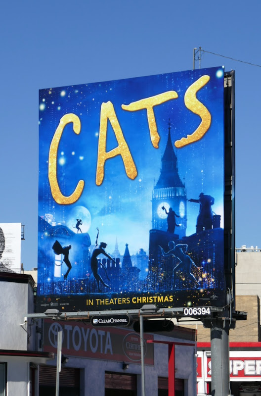 Cats movie billboard