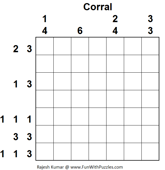 Corral (Logical Puzzles Series #13)