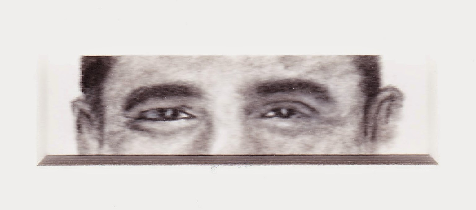 Eyes of President Barack Obama Smiling by F. Lennox Campello