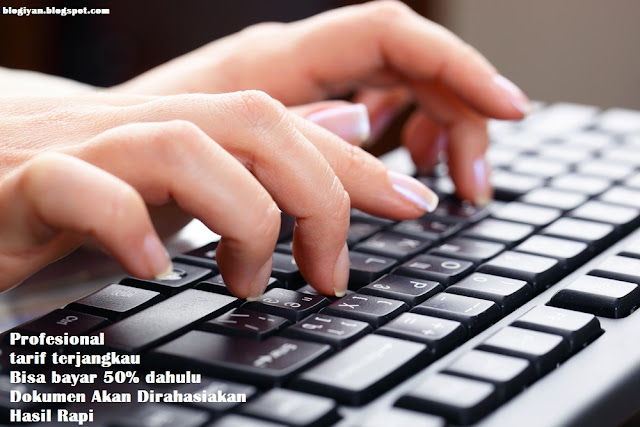 Jasa Pengetikan Cepat Online Tarif Murah
