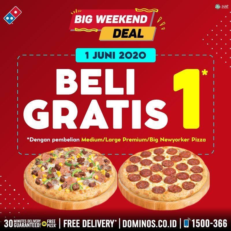 Promo Domino S Pizza Terbaru Edisi Buy 1 Get 1 Free Hari Ini