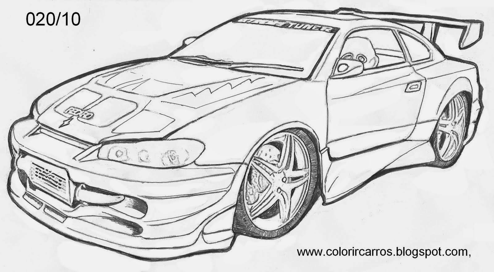 Desenhos Para Colorir Carros Camaro - Colorir