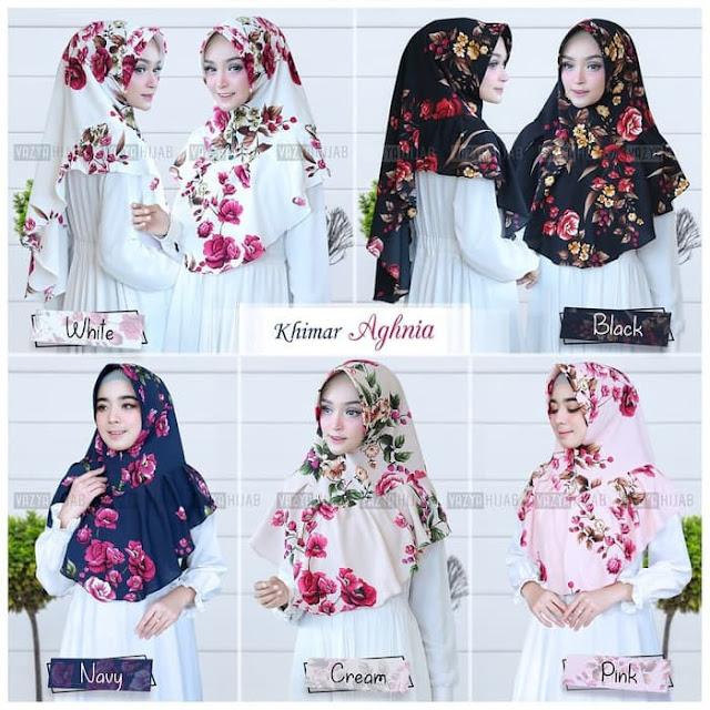 Jilbab Instan Terbaru Bergo Khimar Aghnia Rose Murah