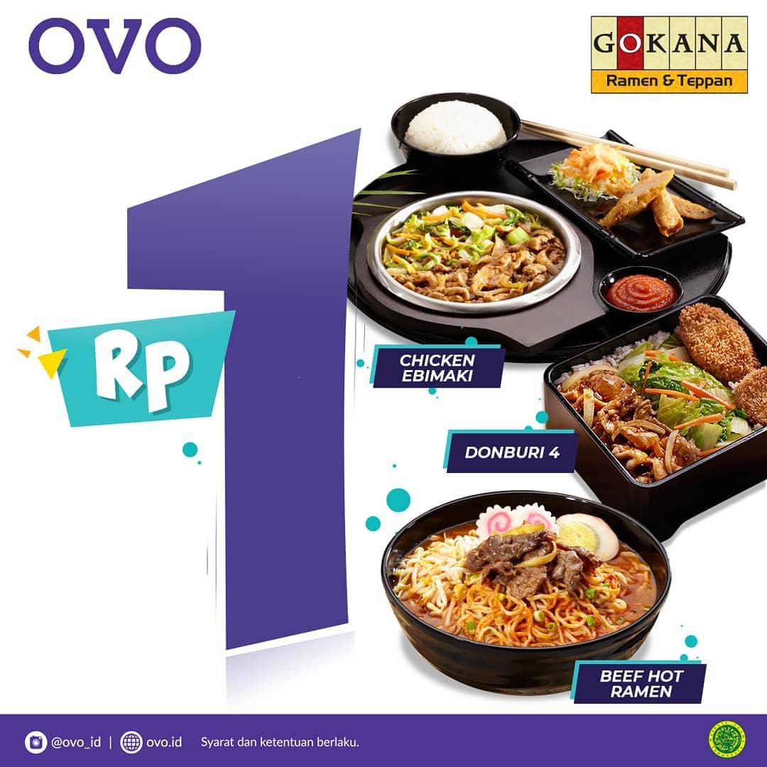 #Gokana - Promo 1 Rupiah Pakai OVO di Gokana Ramen & Teppan Plaza Delta Surabaya