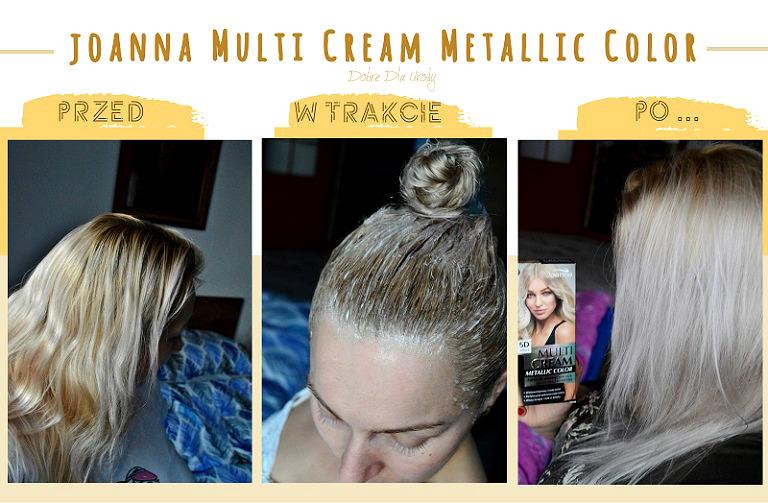 Joanna Multi Cream Metallic Color Bardzo Jasny Śnieżny Blond - domowa koloryzacja
