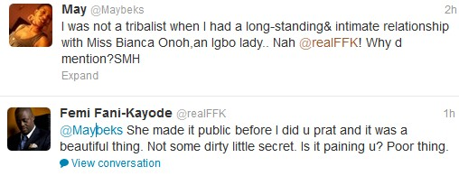 Fani+Kayode+and+Bianca+3 Fani Kayode Dated Bianca Ojukwu and This Igbo Lady Is Angry (See Tweets)