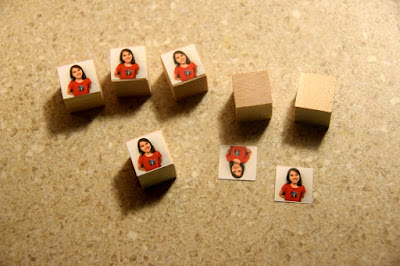Photo cubes for classroom farkle
