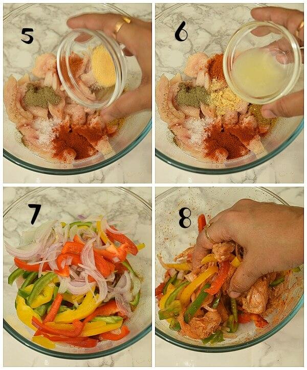 steps to make chicken fajitas