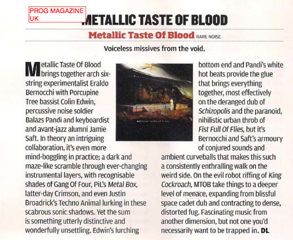 Metallic Taste of Blood Reviews (Part 2) 2