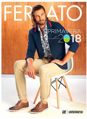 Catalogo de zapatos hombre Andrea ferrato Primavera 2018