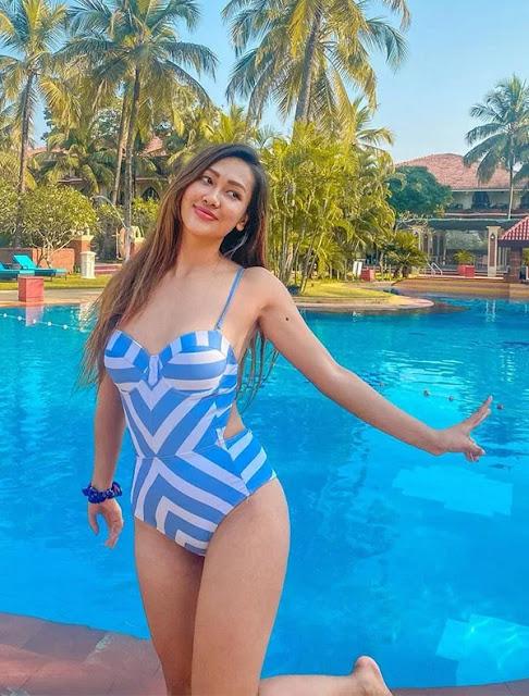 Nepali Model Muna Gauchan Instagram Photos Navel Queens