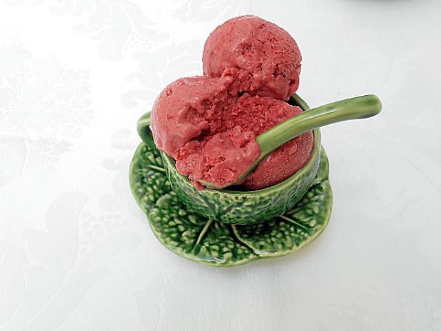 receita gelado de morango sem acucar
