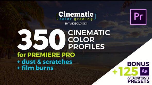 VIDEOHIVE CINEMATIC COLOR PRESETS – PREMIERE PRO