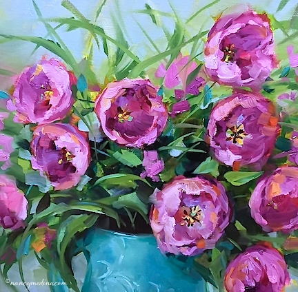 http://www.nancymedina.com/available-paintings/pink-blush-tulips