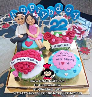 Cupcake Anniversary Romantis