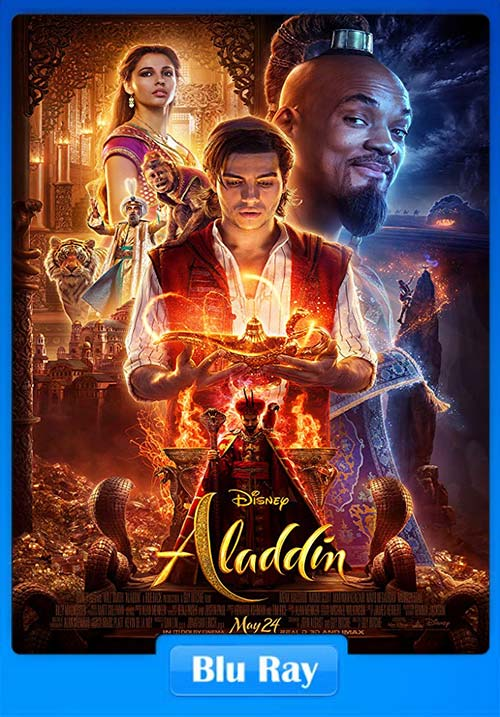 Aladdin 2019 Hindi 720p Dual Audio BluRay ESubs | 480p 300MB | 100MB HEVC