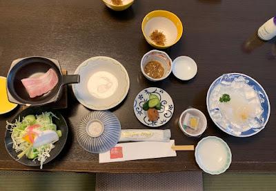 高島旅館の朝食