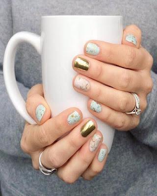 Diseño de uñas gelish invierno y otoño