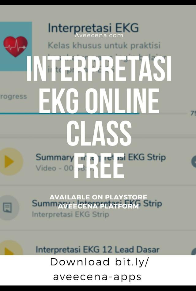 Ada yang baru di platform Aveecena. Interpretasi EKG Class Free