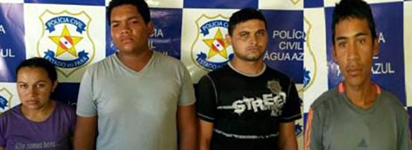 POLÍCIA CIVIL PRENDE QUATRO ENVOLVIDOS EM TRÁFICO DE DROGAS E FURTO EM ÁGUA AZUL DO NORTE/PA