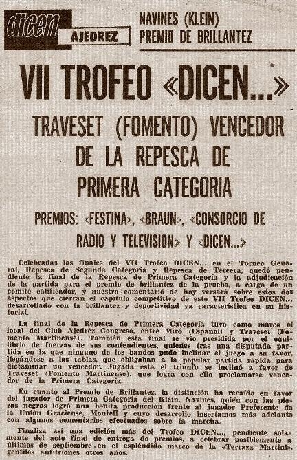 """17 de junio de 1973 - Recorte del diario """"Dicen…"""""""