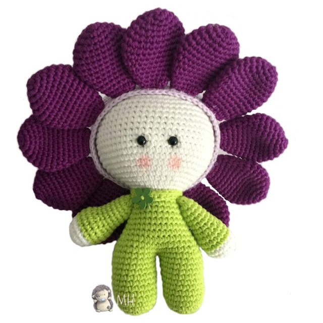 Yoyo flor crochet