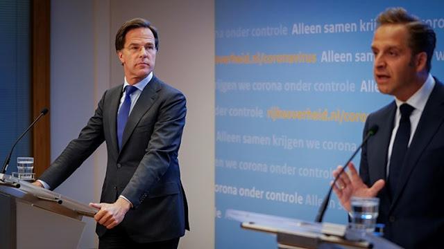 رئيس الوزراء الهولندي مارك روتا انتشار كورونا في هولندا يشهد ازدياد مطرد