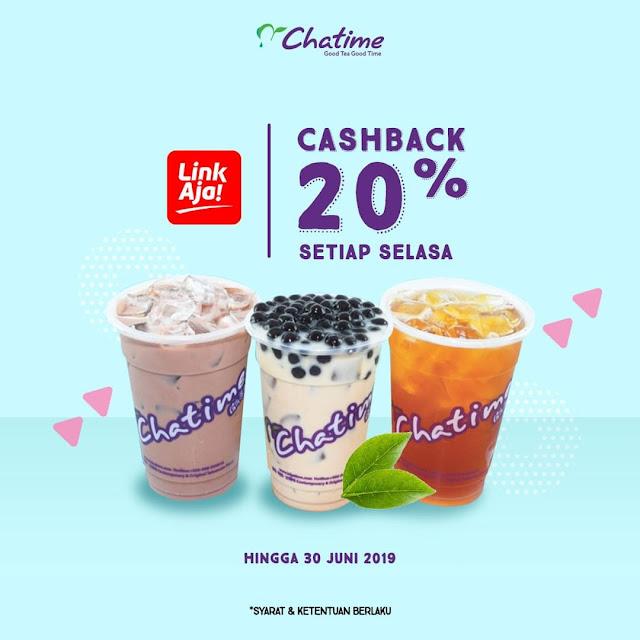 #LinkAja - #Promo Cashback 20% Pembelian Chatime Setiap Hari Selasa (s.d 30 Juni 2019)