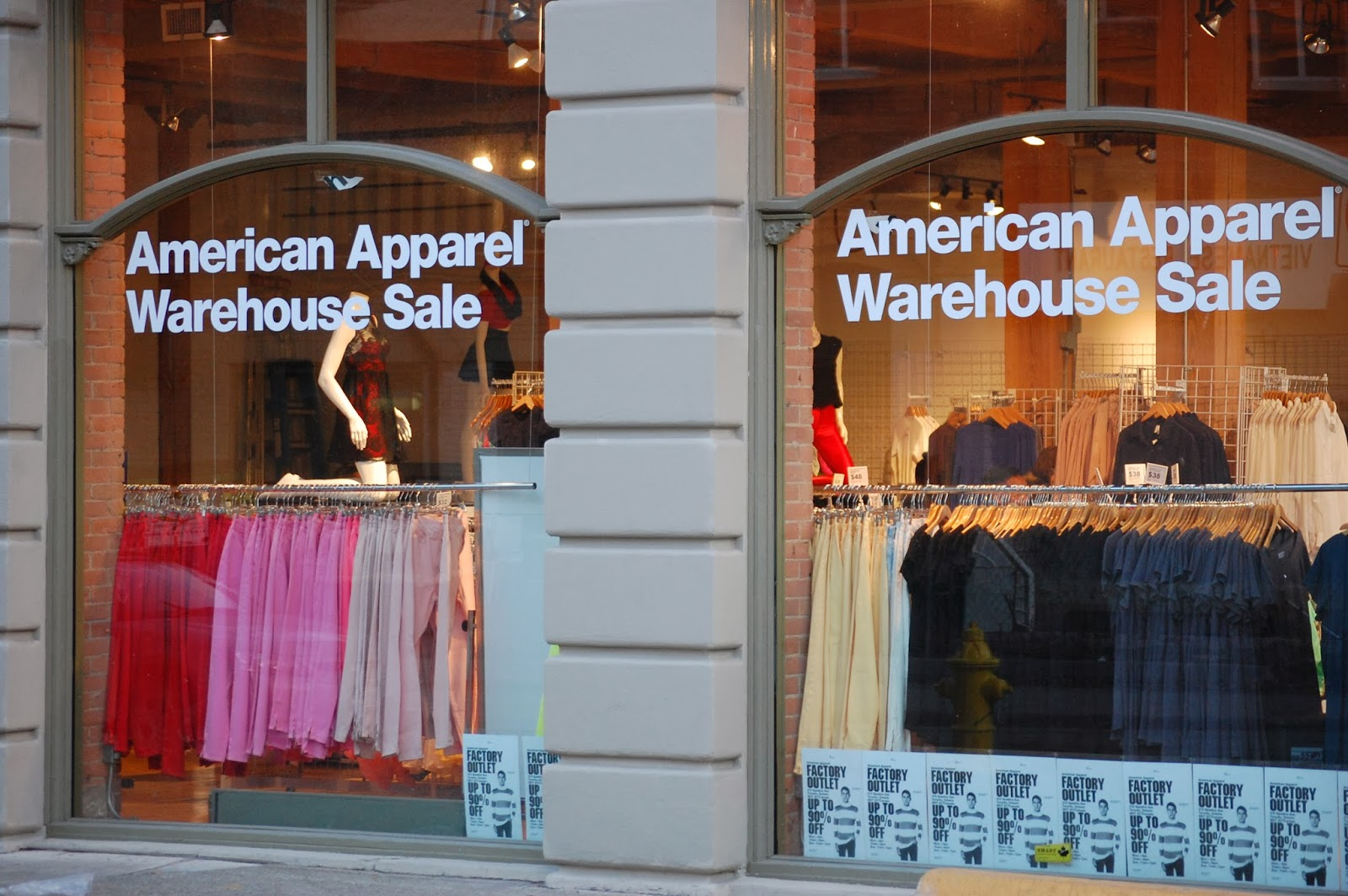 American apparel clothing store