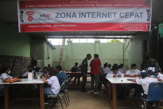 TNI Rangkul Telkom Agar Anak Sekolah Mendapatkan Internet Gratis Di Papua