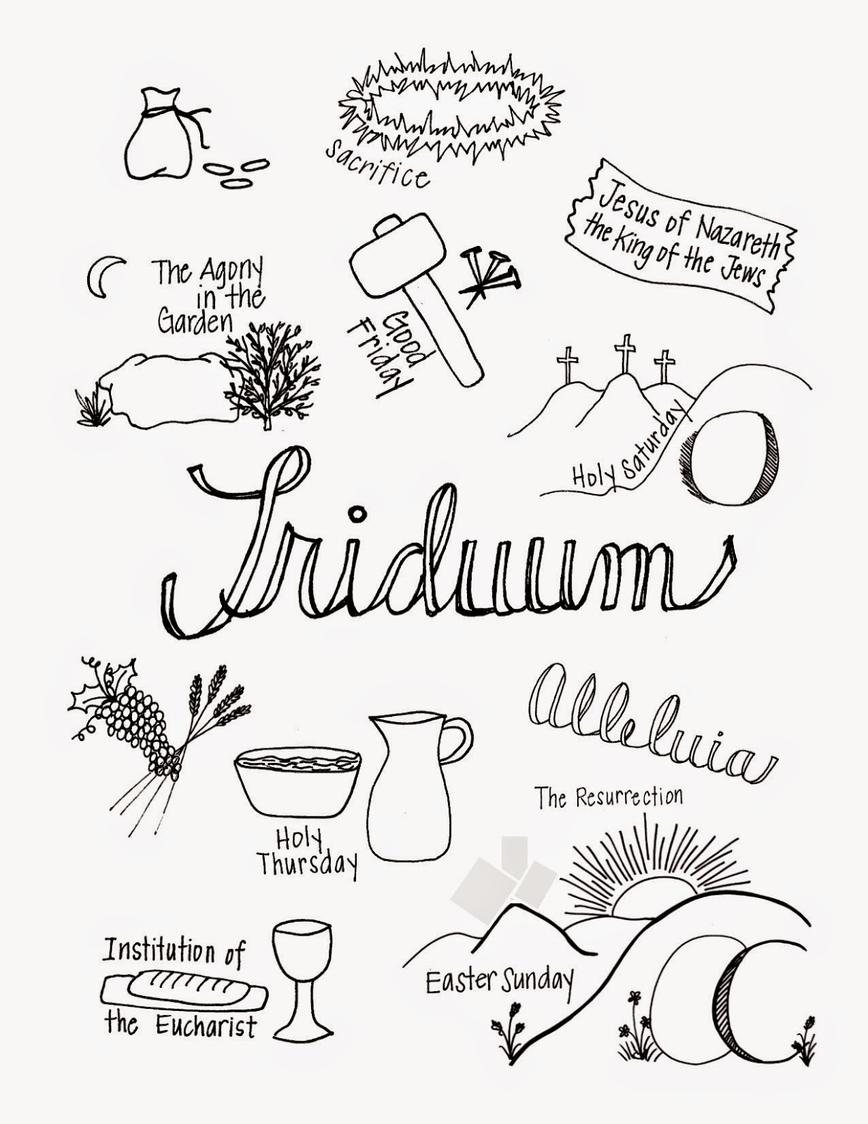 Look To Him And Be Radiant What The Triduum Looks Like