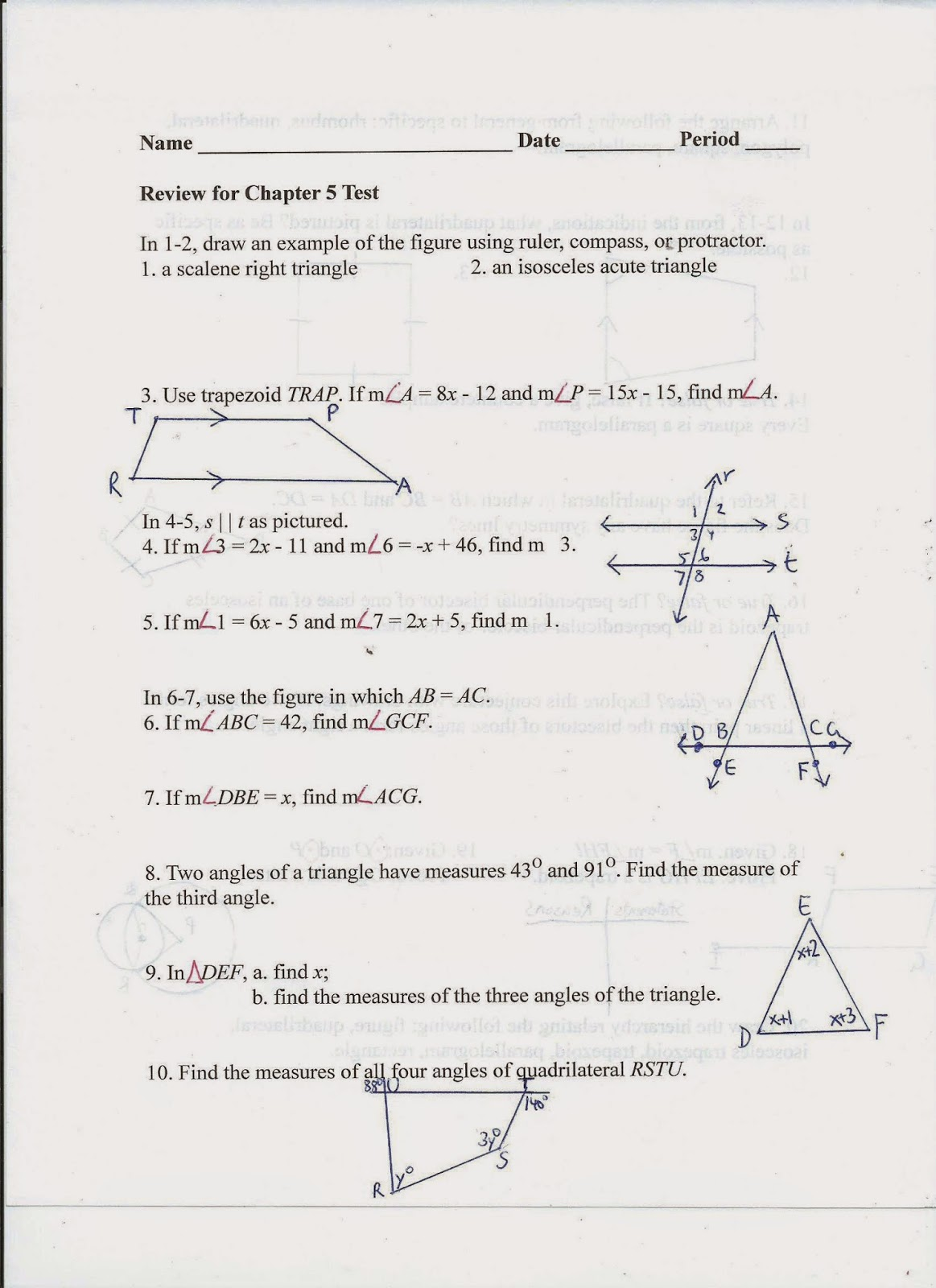 Cpm Homework Help Geometry Proofs Of Quadrilaterals