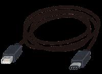 USB Type-C端子の付いたケーブルのイラスト