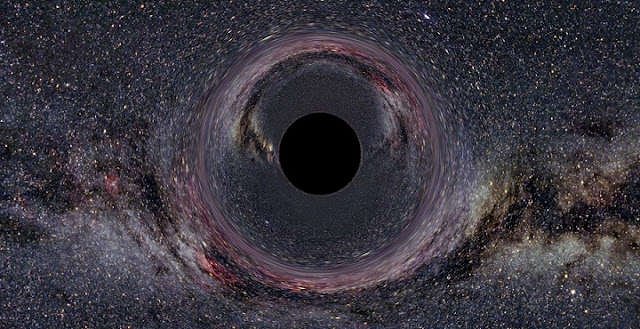 A simulated black hole. Credit: Ute Kraus