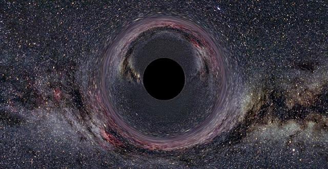 A simulated black hole. Credit: Ute Kraus