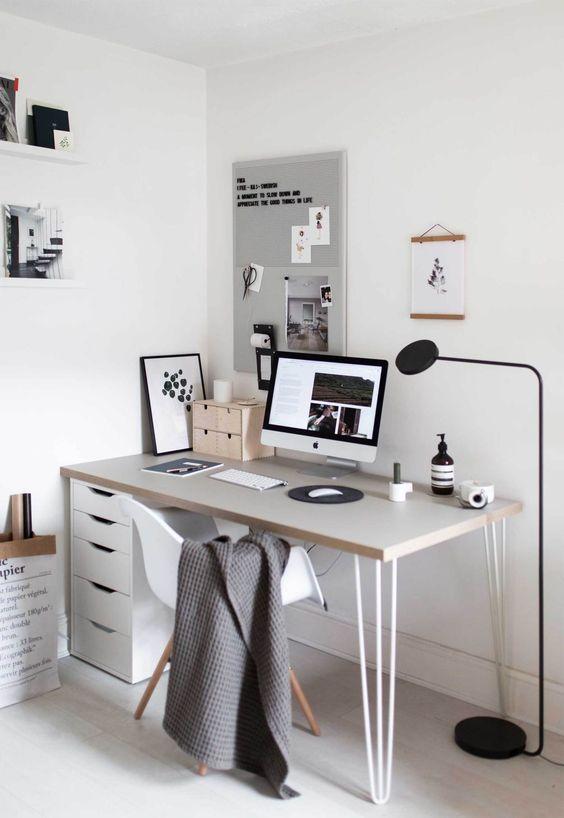 scandinavian workingspace interior design