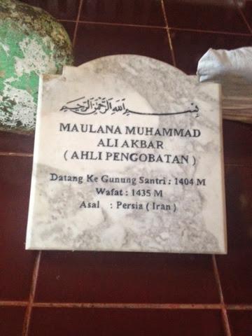 Biografi Maulana Ali Akbar Makam Gunung Santri