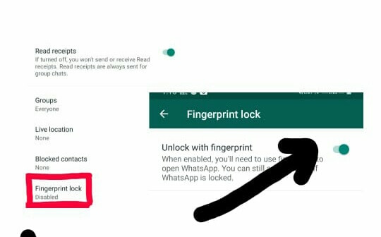 Whatsapp में Fingerprint Lock Enable कैसे करे,whatsapp fingerprint lock activate kaise kare,how to enable fingerprint lock